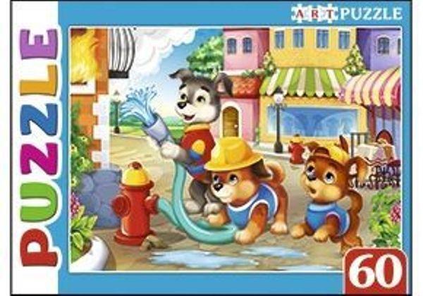 Пазлы 60эл «Щенки-пожарные» Artpuzzle
