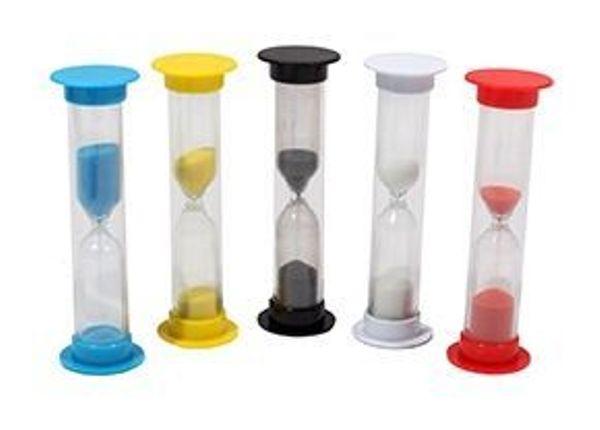Песочные часы (1 мин, цвет-микс, песок-в цвет корпуса)