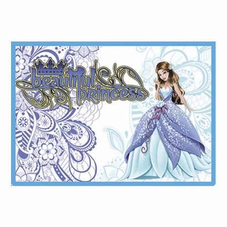 Папка А4 молния сверху пластик, Beautiful Princess