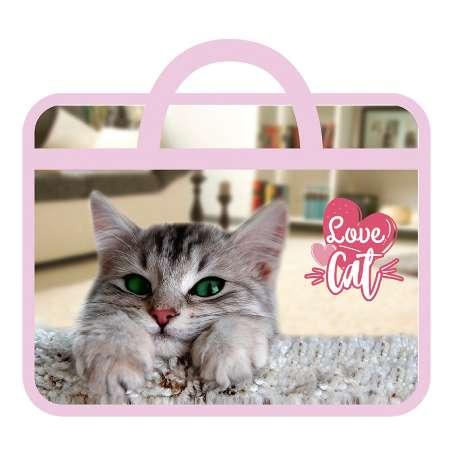 Папка А4 с ручками 33х26х7,5см Love Cat