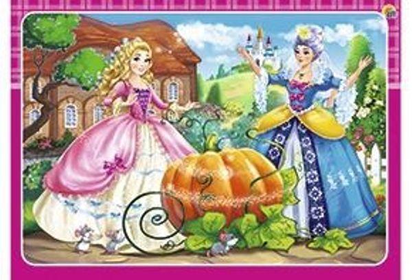 Пазл-рамка 12эл 15х21см «Принцесса Золушка»