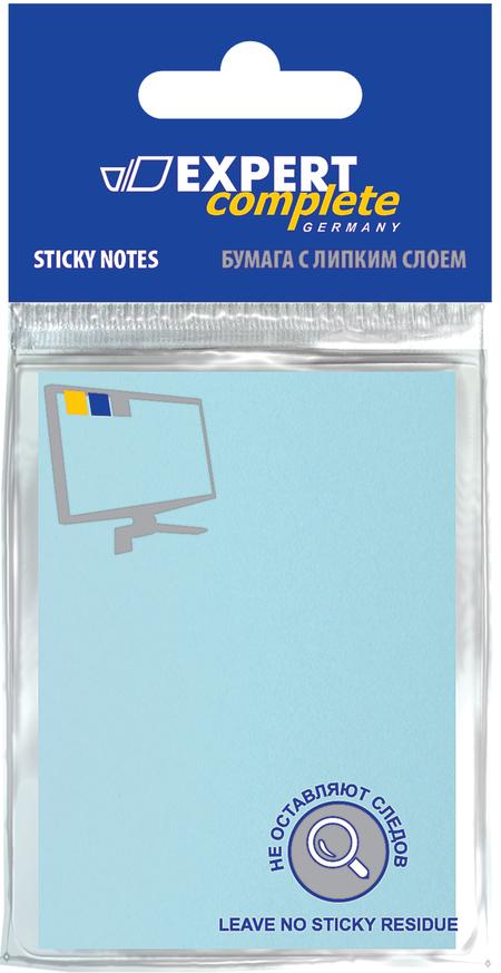 Бумага с лип краем 51х76мм 100л голубой