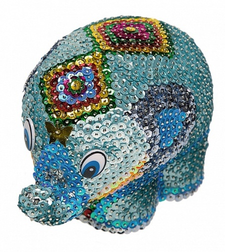 Мозаика из пайеток 3D «Слон»