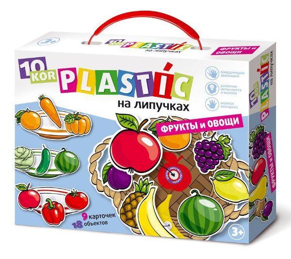 Пластик на липучках «Фрукты и овощи»