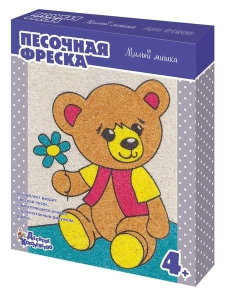 Фреска Милый мишка (рамка из картона)