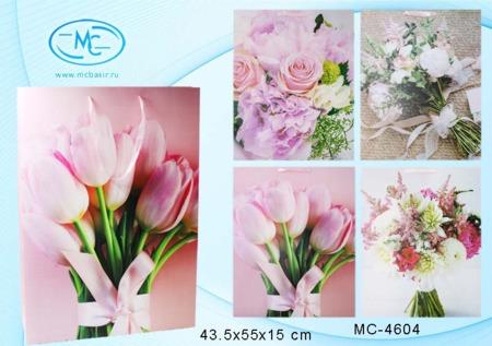 Пакет подарочн 43,5х55х15см Цветы (плотный)
