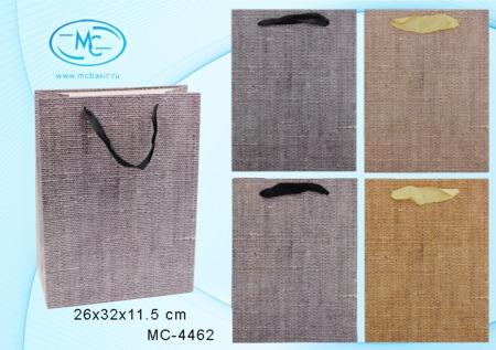 Пакет подарочн 26х32х11,5см Фактура мешковины (плотный)