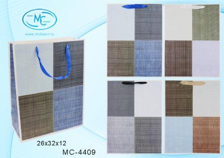 Пакет подарочн 26х32х12см Фактурный (плотный)