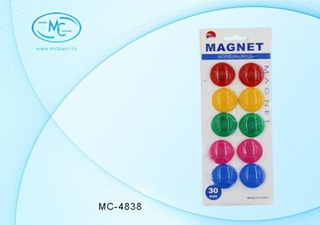 Магниты круглые 3см 10шт в блистере