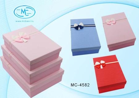 Набор подарочных коробок: 3 в 1 Фактурные одного цвета