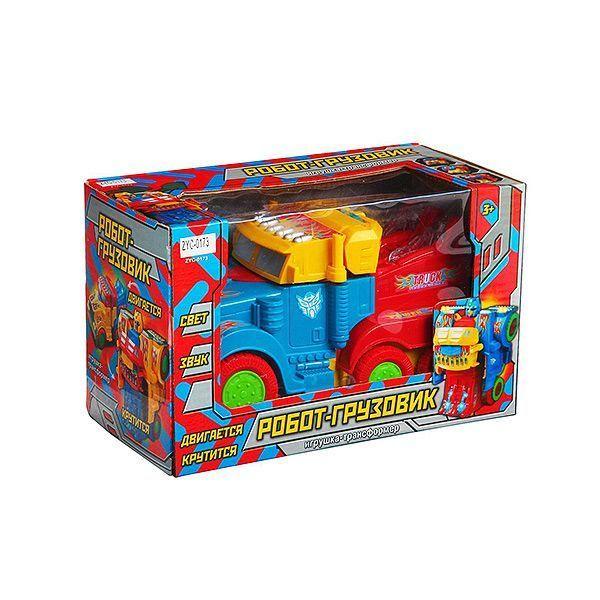 Игрушка пластик Грузовик — Робот (свет, звук)
