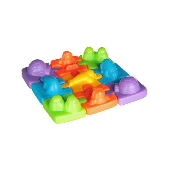 Игрушка пластик для ванны 19х22х5см Плавающий пазл