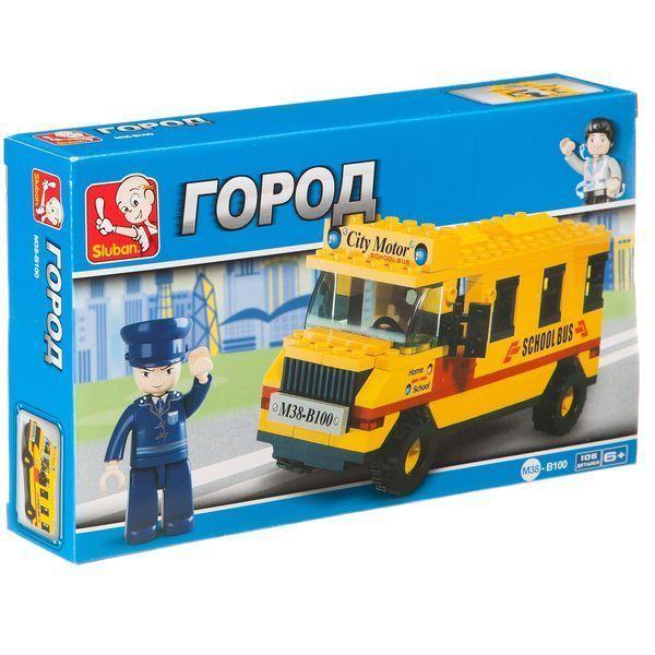 Конструктор 105дет Школьный автобус