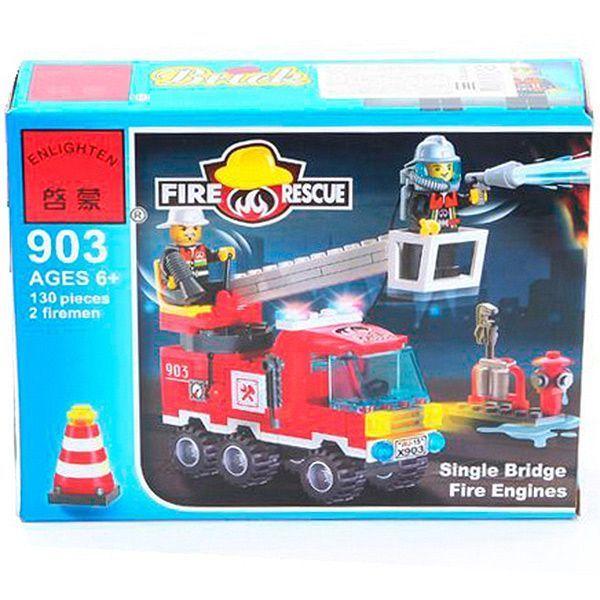 Конструктор 130дет Fire Rescue 18х14х4,5см