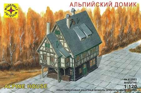 Модель миниатюра альпийский домик 1:120