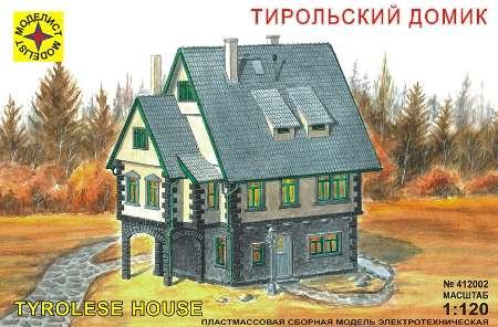 Модель миниатюра тирольский домик 1:120