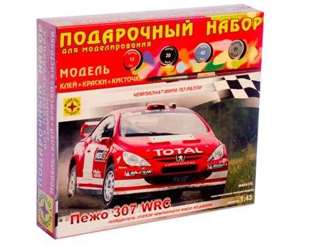 Модель автомобиль Пежо 307 WRC 1:43 (подароч)