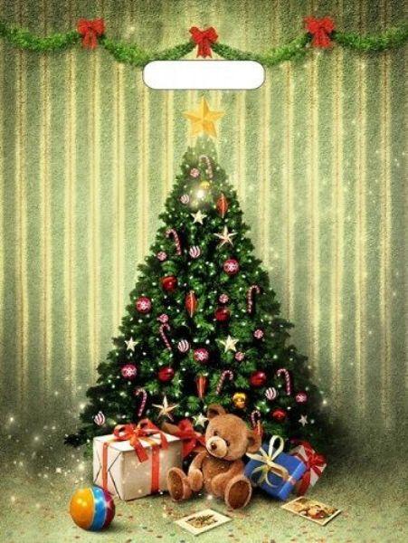 Пакет полиэтиленовый «Мишутка с подарками» (40х31см)