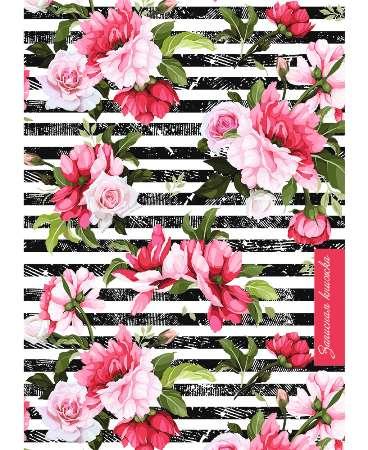 Записная книжка А5 160л 7БЦ Цветы на полосах