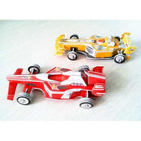 3Д пазлы Супергоночный автомобиль 2в1 (64дет) 21х10х5 см
