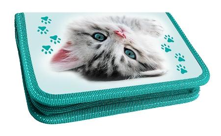 Пенал 2отд 205/125/40 «Серый котенок на полу»