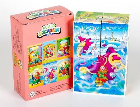 Кубики 6шт Мир сказок-3 (без обклейки)