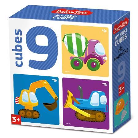 Кубики 9шт На стройке (без обклейки)