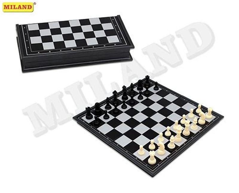 Шахматы магнитные пластиковые (31см)