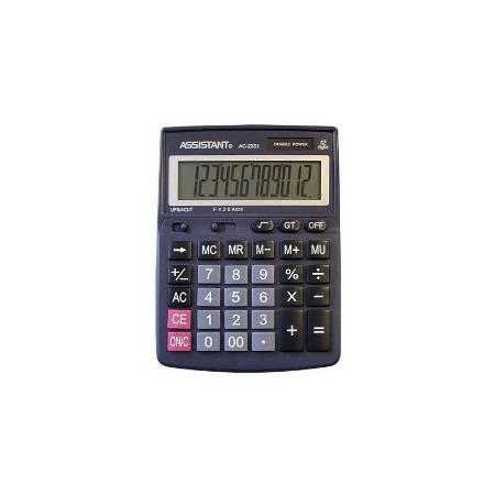 Калькулятор 12р Assistant 190х143х35мм, метал панель
