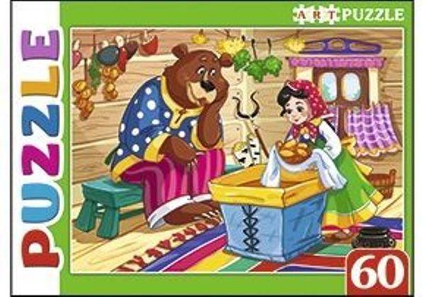 Пазлы 60эл «Машенька и медведь»