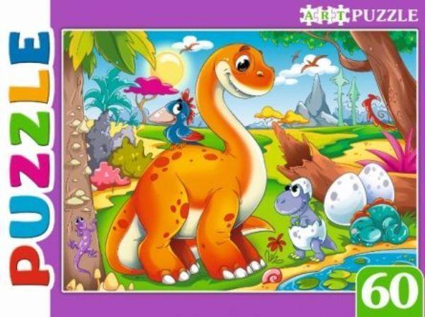 Пазлы 60эл «Мир динозавров»