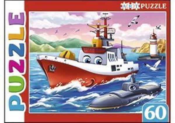 Пазлы 60эл «Морской военный транспорт»