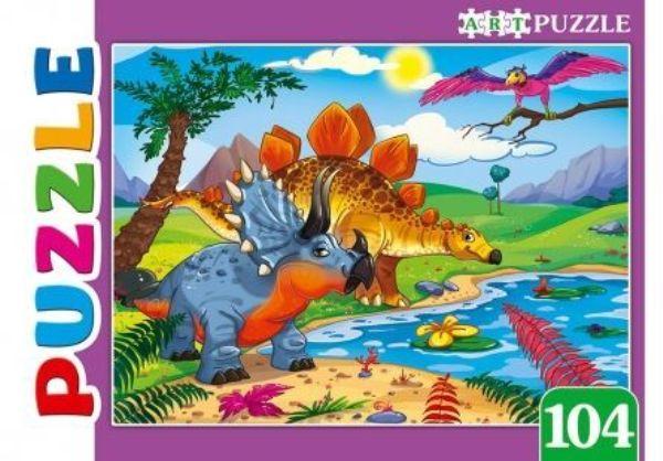 Пазлы 104эл «Большие динозавры»