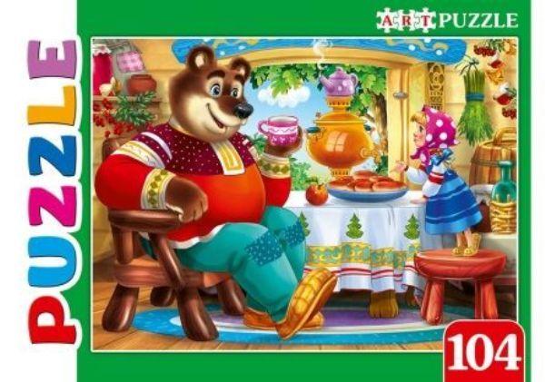 Пазлы 104эл «Машенька и медведь»