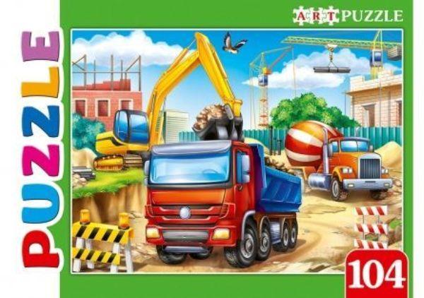 Пазлы 104эл «Строительный транспорт»