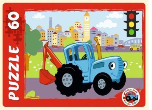 Пазлы 60эл «Синий трактор»