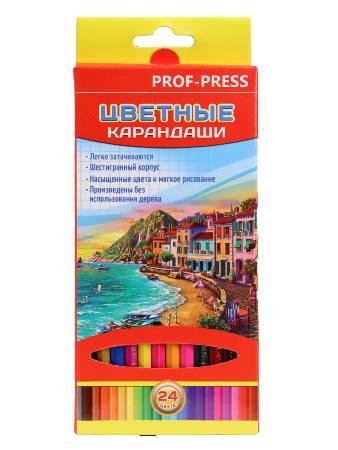 Карандаши 24цв 2М «Красочный пейзаж» к/к гриф 2,65мм