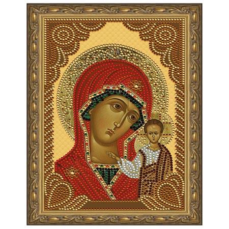 Картина из кристаллов 5D 20х30см Казанская Божия Матерь (11 цветов)