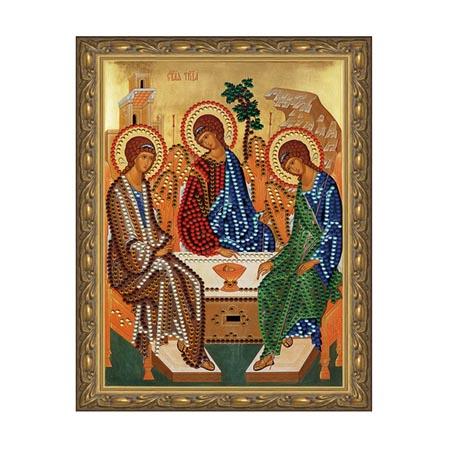 Картина из кристаллов 5D 20х30см Святая Троица (12 цветов)