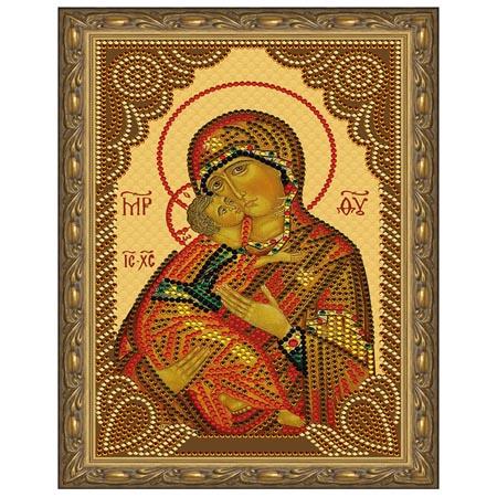 Картина из кристаллов 5D 20х30см Владимирская Божия Матерь (10 цветов)