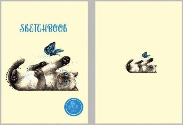 Скетчбук А5 7БЦ 80л «Кот» 120гр