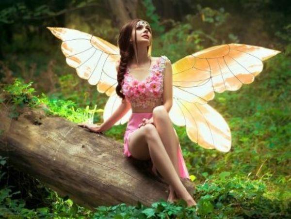 Картина по номерам 40х50см Красивая фея в лесу
