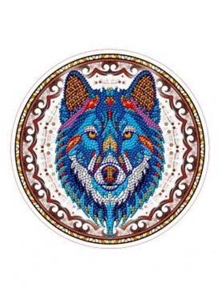 Картина из кристаллов 24см Яркий волк (9 цв)