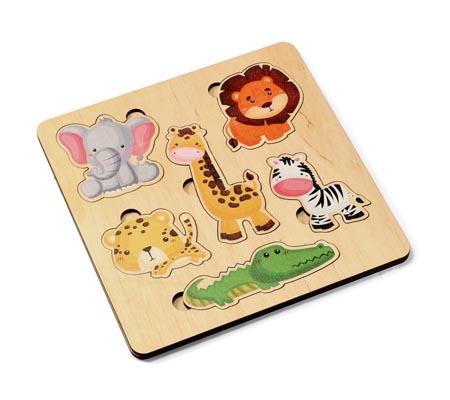 Игра деревянная развивающая «Дикие животные»
