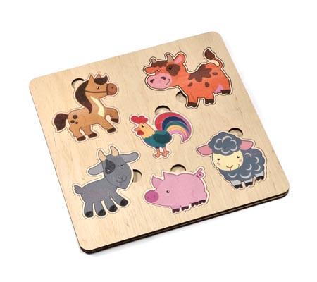 Игра деревянная развивающая «Домашние животные»