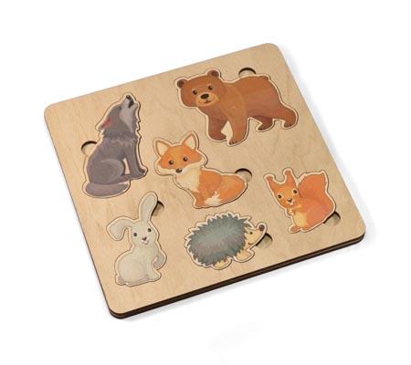 Игра деревянная развивающая «Лесные животные»