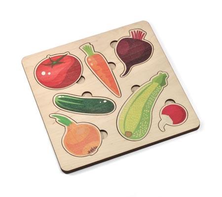 Игра деревянная развивающая «Овощи»
