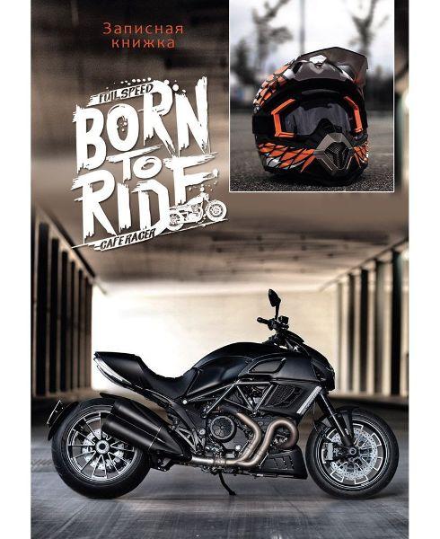 Зап книжка А6 48л 7БЦ Черный мотоцикл