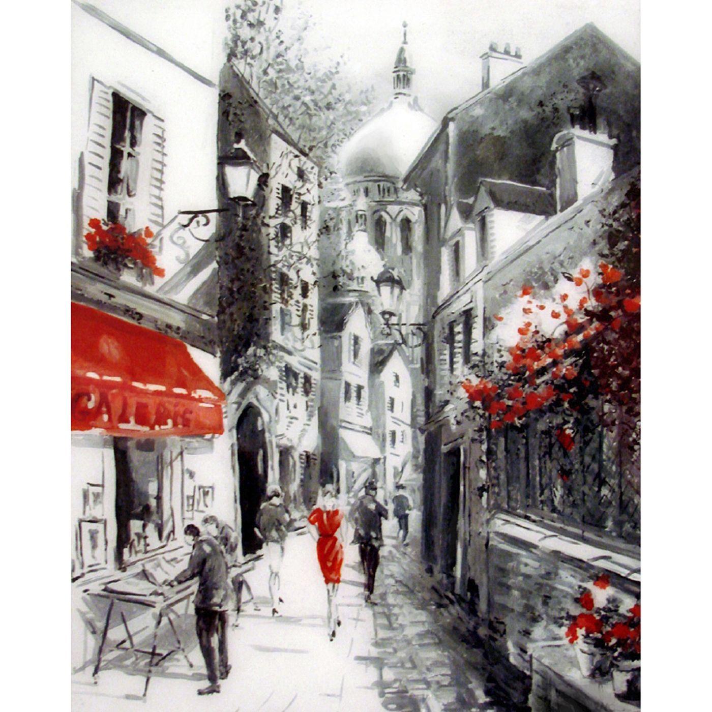 Картина по номерам 40х50см Улочка старого города (21 цвет)