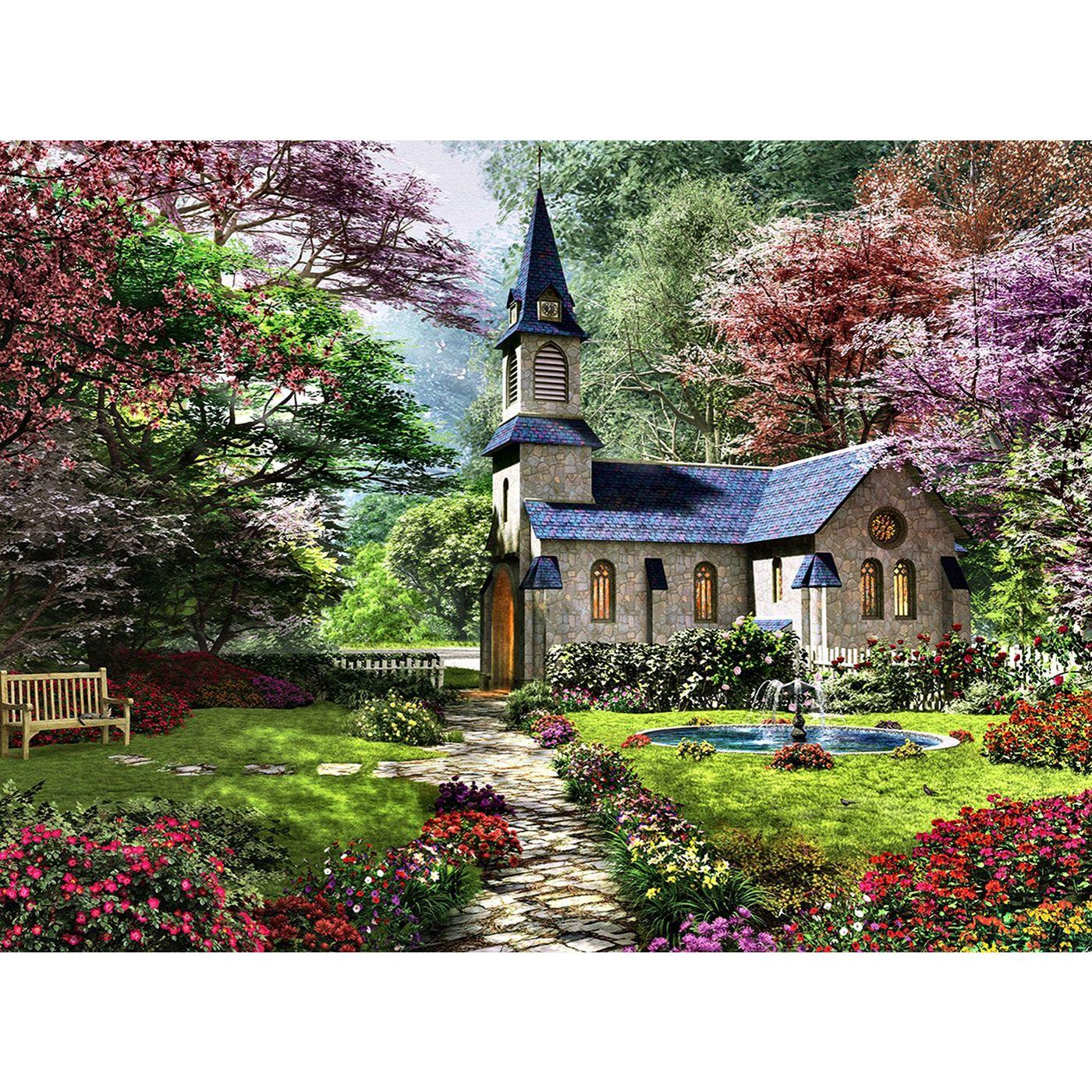 Картина из кристаллов 40х50см Цветущий сад (36 цветов)